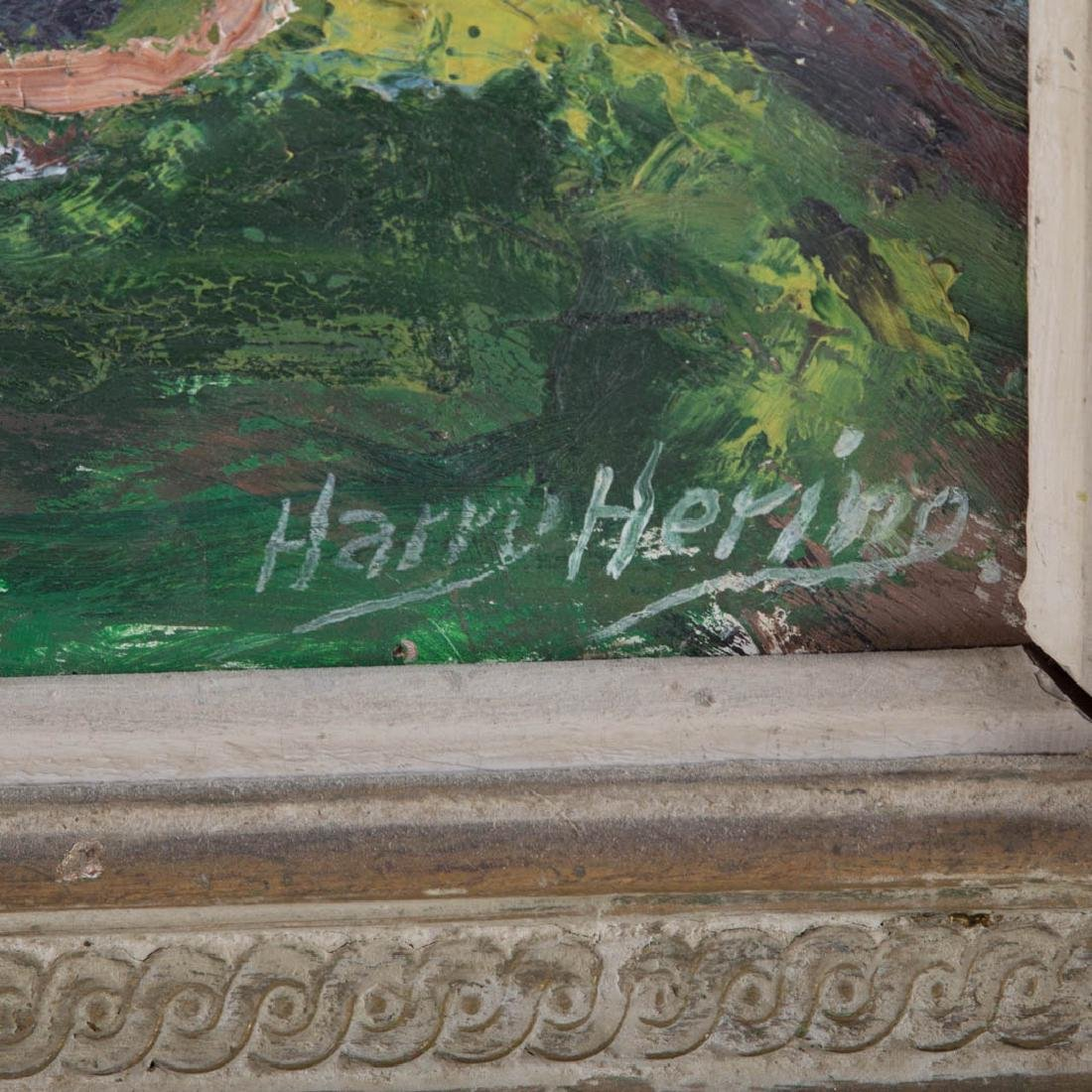 """Harry Hering. """"Central Park, NYC,"""" oil on board - 2"""
