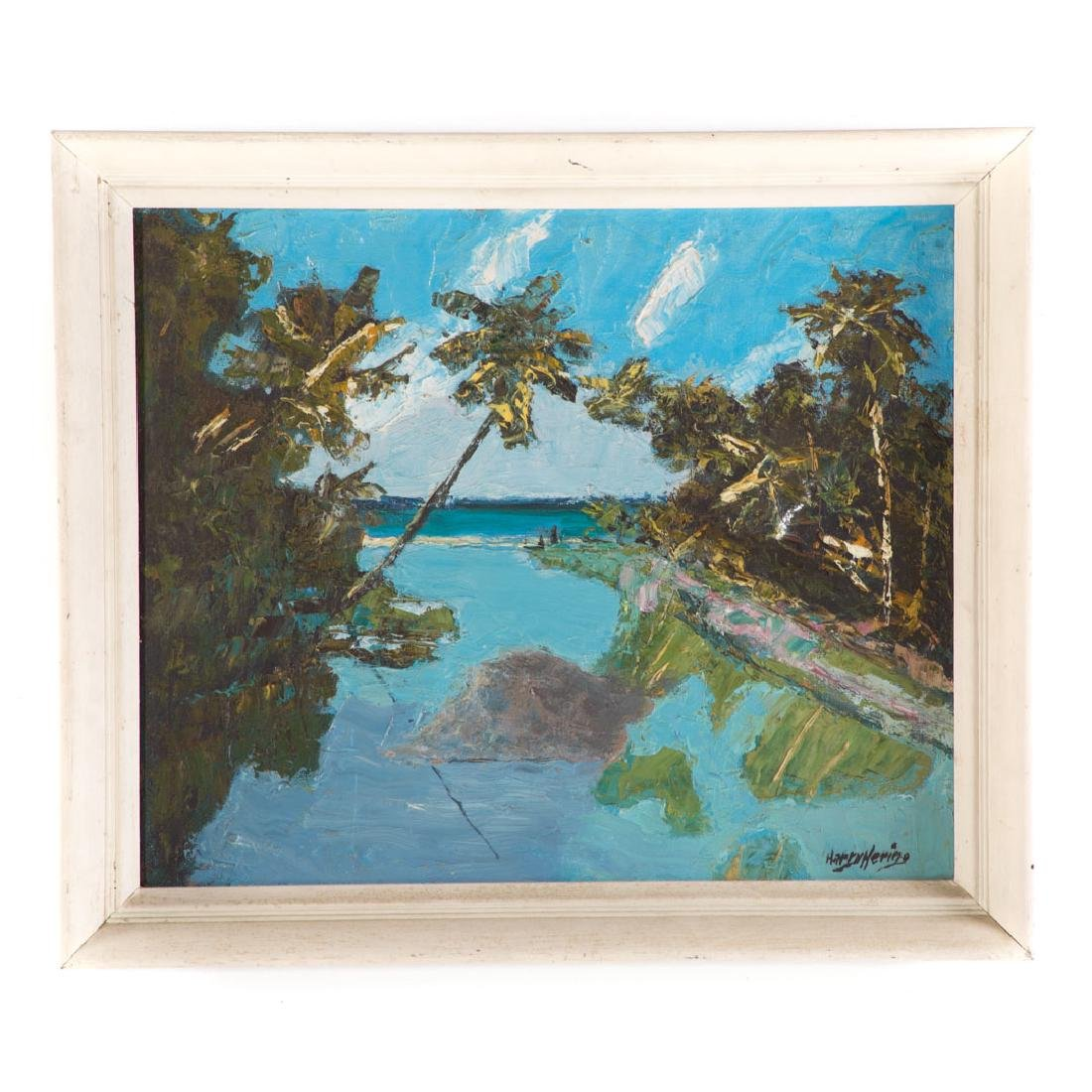 Harry Hering. Sunny Inlet, oil on board