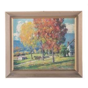 "Gilbert Haven Smith. ""Baldwin Farm"", oil on canvas"