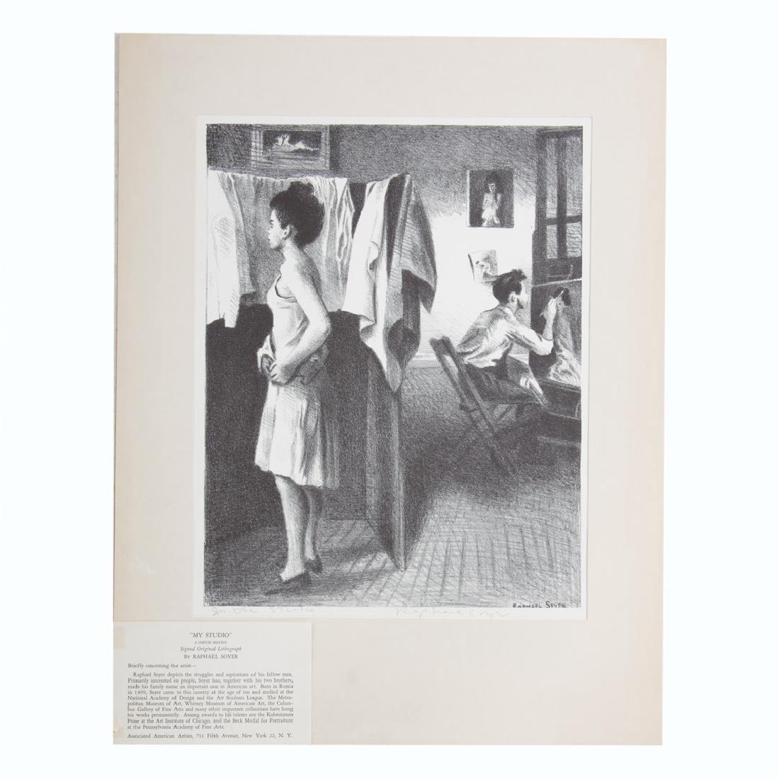 "Raphael Soyer. ""My Studio,"" lithograph"