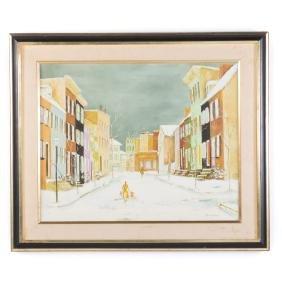 "Marie Tiffany. ""Tyson Street,"" oil on canvas"