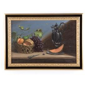 Ronald Reillo. Still Life with Fruit, oil