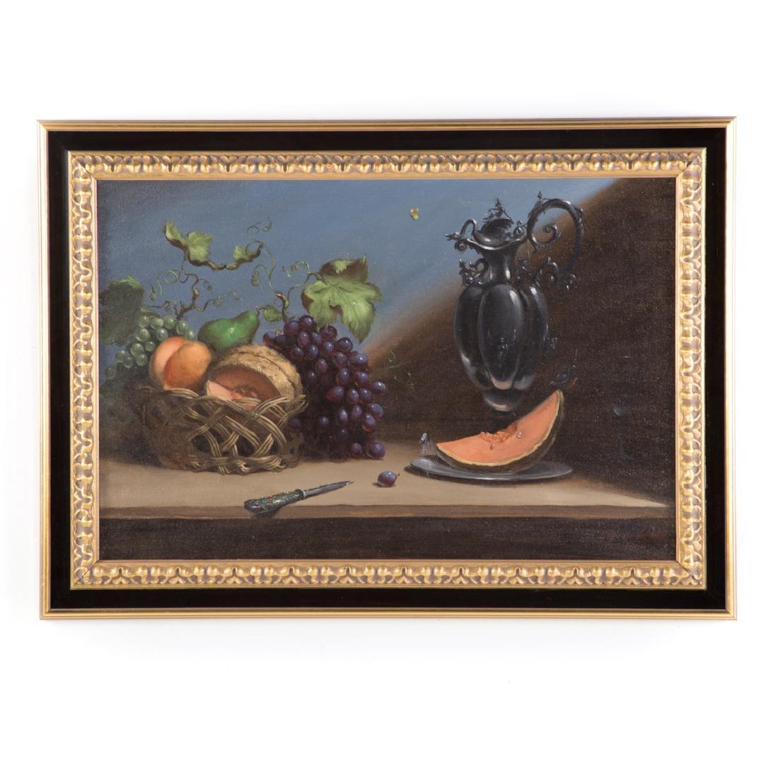 Ronald Reillo. Still Life with Fruit, oil