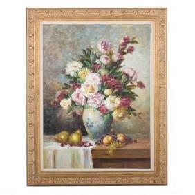Jamie Lisa. Floral Still Life, oil
