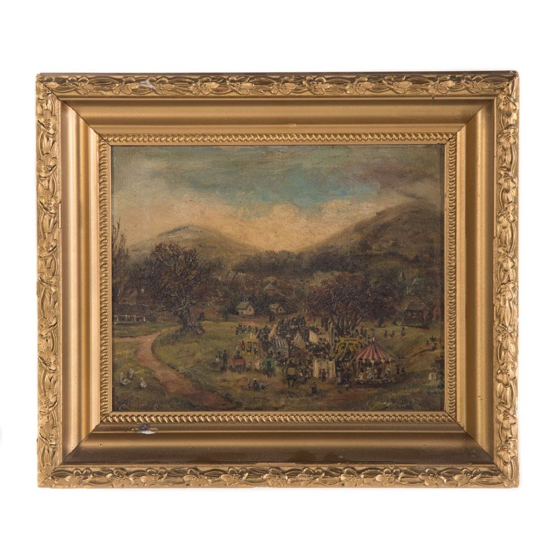 Margaret Goldingham. County Fair, oil on canvas