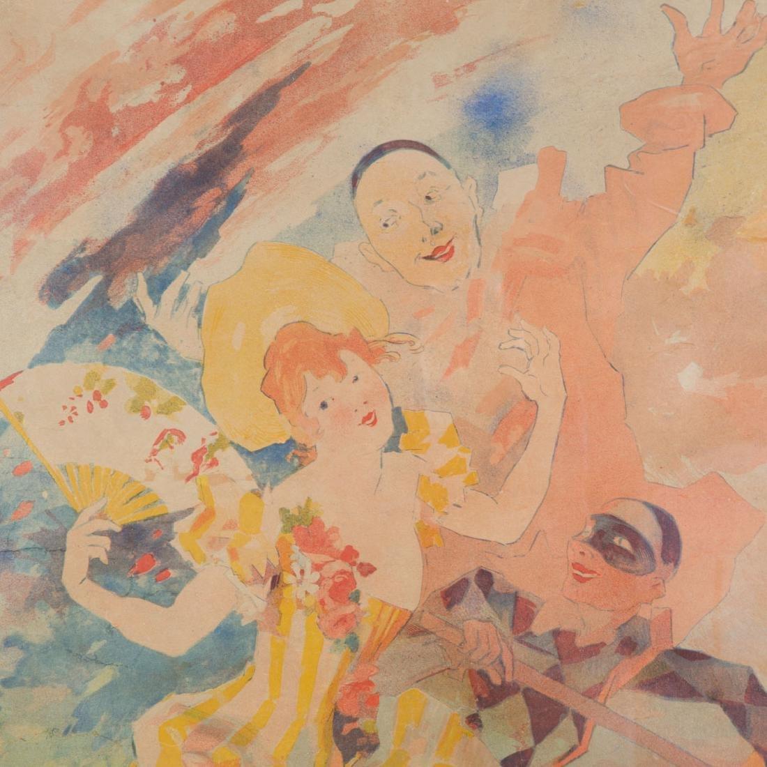 """Jules Cheret. """"Le Comedie,"""" color lithograph - 3"""