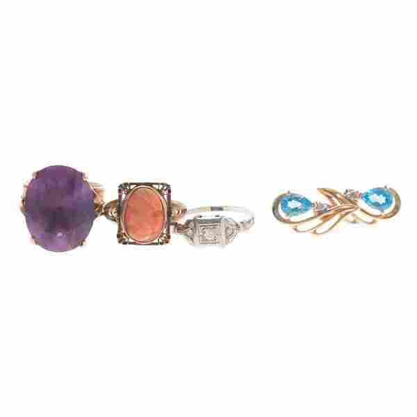 A Collection of Lady's Gold & Gemstone Jewelry