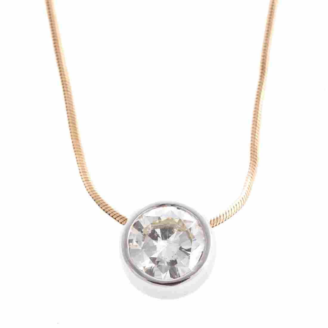 A Lady's 2.50 ct. Diamond Pendant in 14K Gold