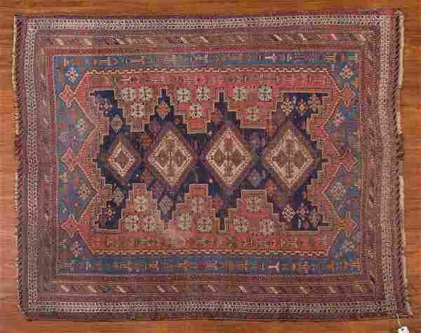 Antique Afshar rug, approx. 4.9 x 5.9