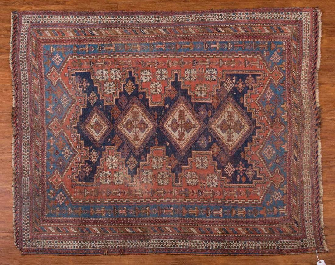 Antique Afshar rug, approx. 4.9 x 5.9