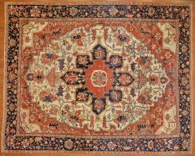 Antique Serapi carpet, approx. 9.4 x 11.5