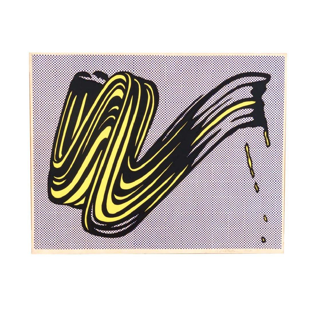 """Roy Lichtenstein. """"Brushstroke,"""" serigraph"""