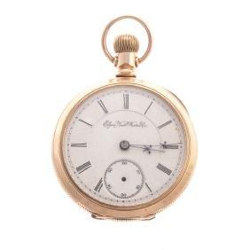 An Elgin Pocket Watch in 14K Gold