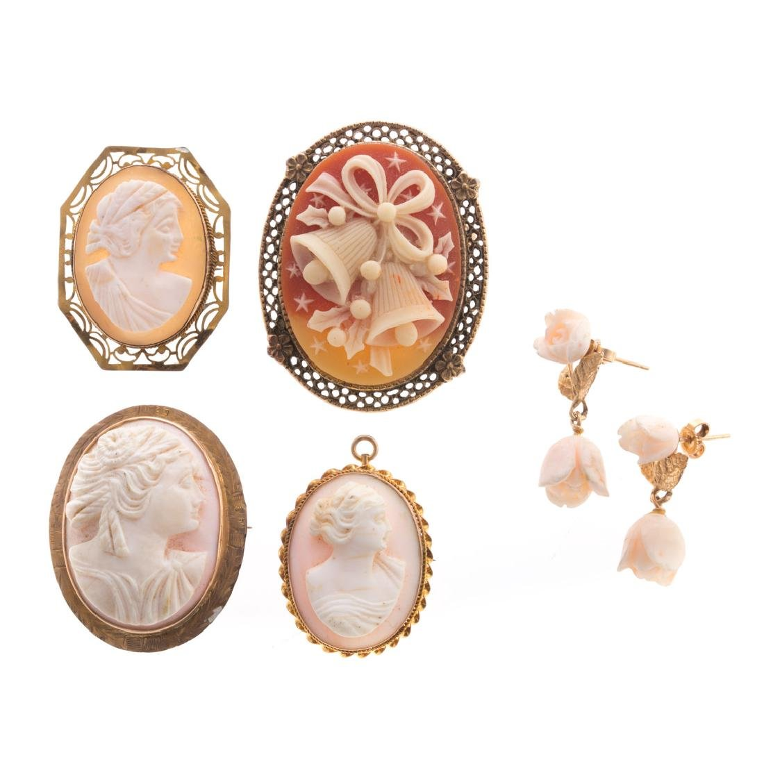 A Collection of Lady's Cameo Brooches