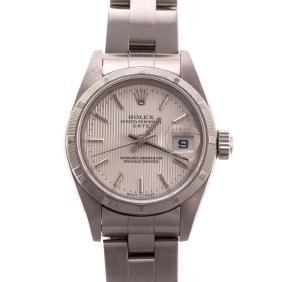 A Lady's Rolex Oyster Perpetual Date Watch