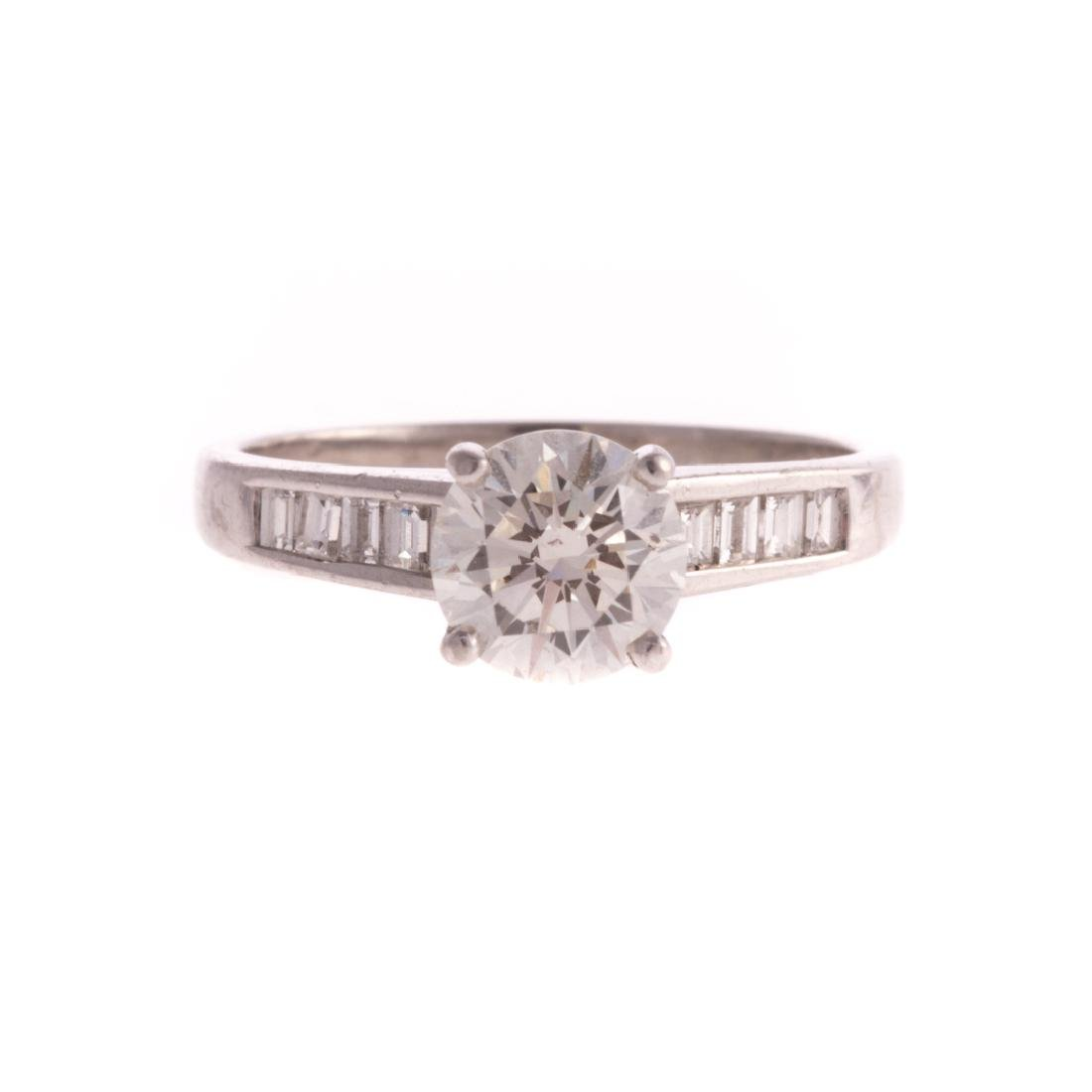 A 1.22ct Round Diamond Engagement Ring in Platinum