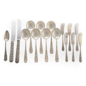 Stieff Kirk assorted sterling flatware 16 pieces