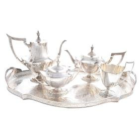 "Gorham ""Plymouth"" sterling 4-pc coffee/tea service"