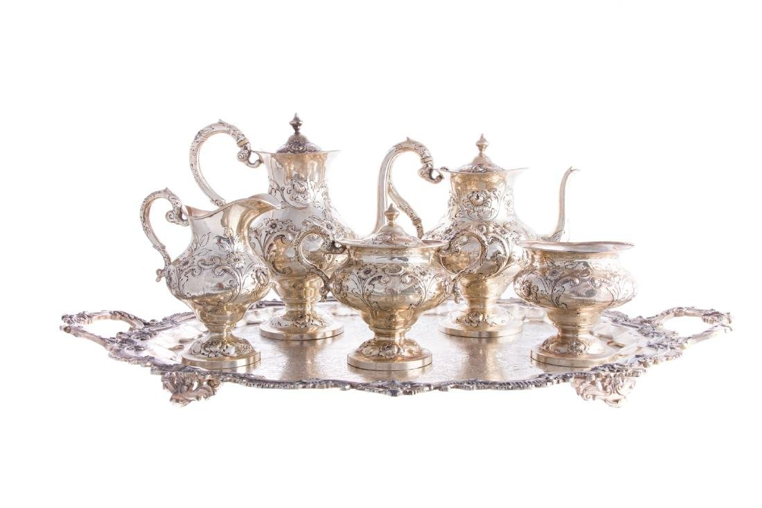 Early Baltimore sterling 5-pc coffee/tea service