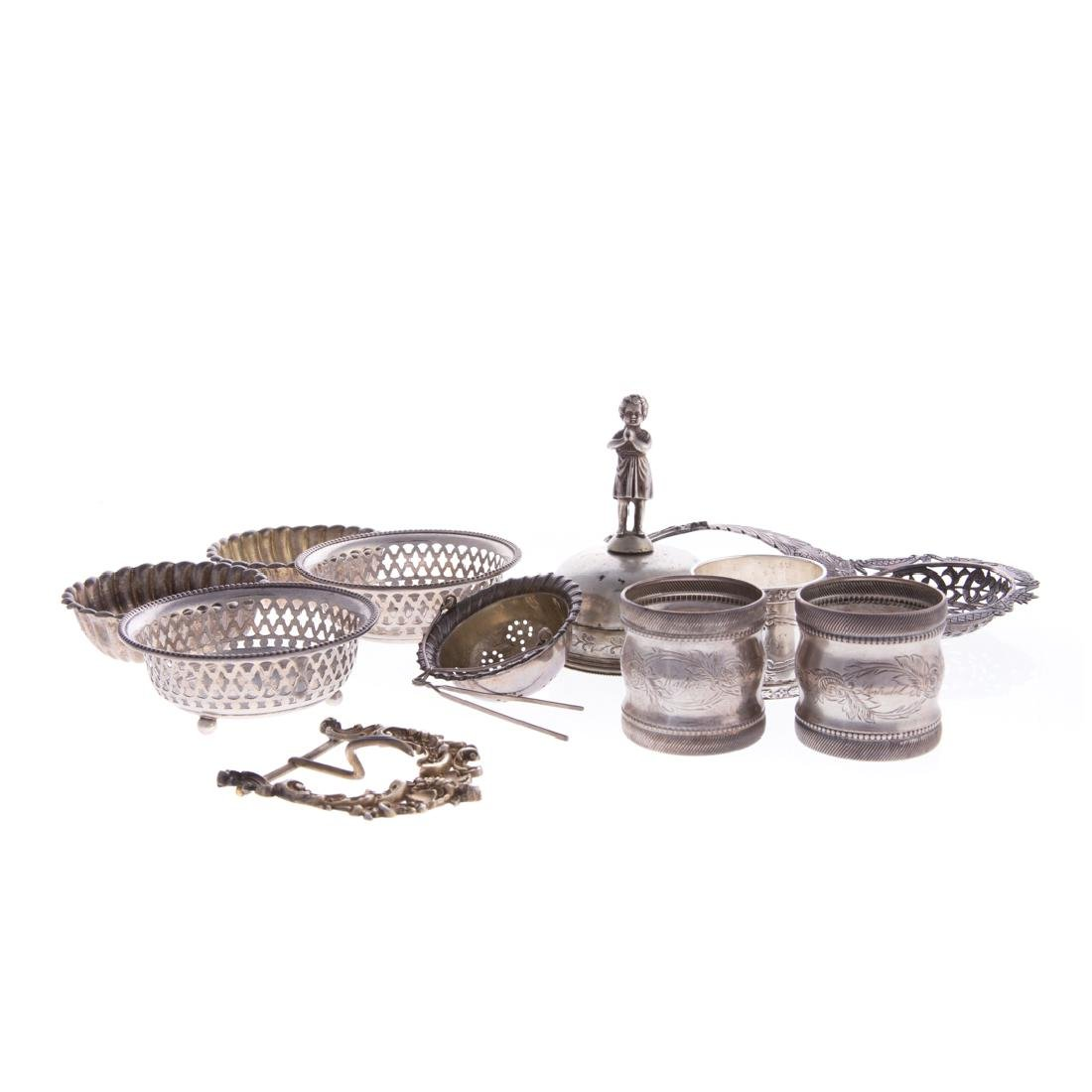 American & Continental silver items (11)