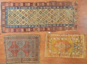Three antique rugs