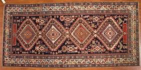 Fine antique Shirvan rug, approx. 4.3 x 8.9