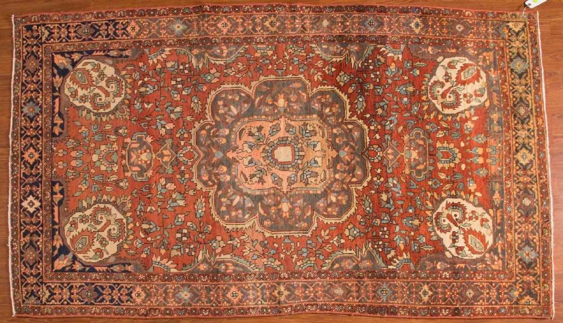 Antique Sarouk rug, approx. 4 x 6.10
