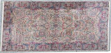 Semi-antique Lavar Kerman carpet
