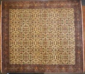 Unusual fine Bijar carpet, approx. 13.6 x 14.8
