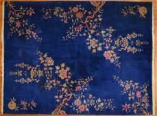 Antique Nichols rug, approx. 8.9 x 11.5