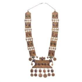 Turkmen parcel-gilt pectoral ornament