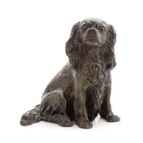 Audrey Fournier King Charles Spaniel bronze