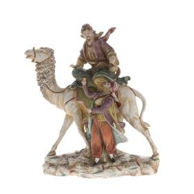 Continental porcelain figural group