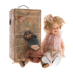 Ideal Shirley Temple doll and Arranbee doll