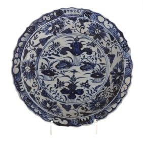 Chinese Ming manner blue and white porcelain bowl