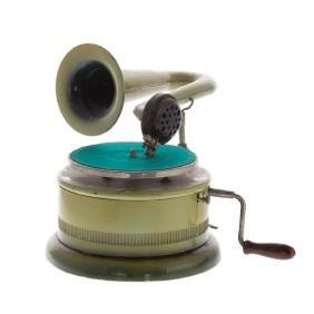 German enameled tin child's phonograph