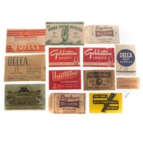 13 phonograph needle packets