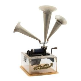 Lucite working demonstration cylinder phonograph