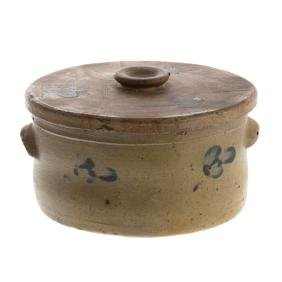 American stoneware butter crock