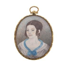 Portrait miniature of a young girl