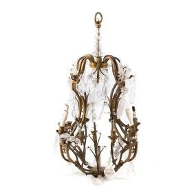 Louis XVI style bronze 8-light chandelier