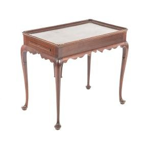 Queen Anne style mahogany tea table, Kittinger