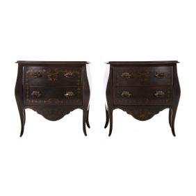 Pair of Italian Neoclassical style commodes