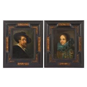 Alessandro Maffei. 2 copies of Rubens and Van Dyck