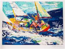 LeRoy Neiman North Seas Sailing serigraph