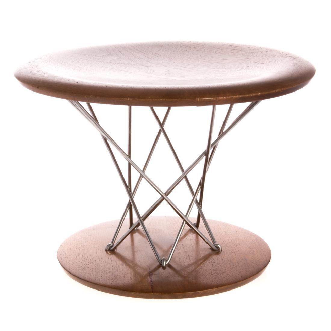 Isamu Noguchi walnut rocking stool by Knoll