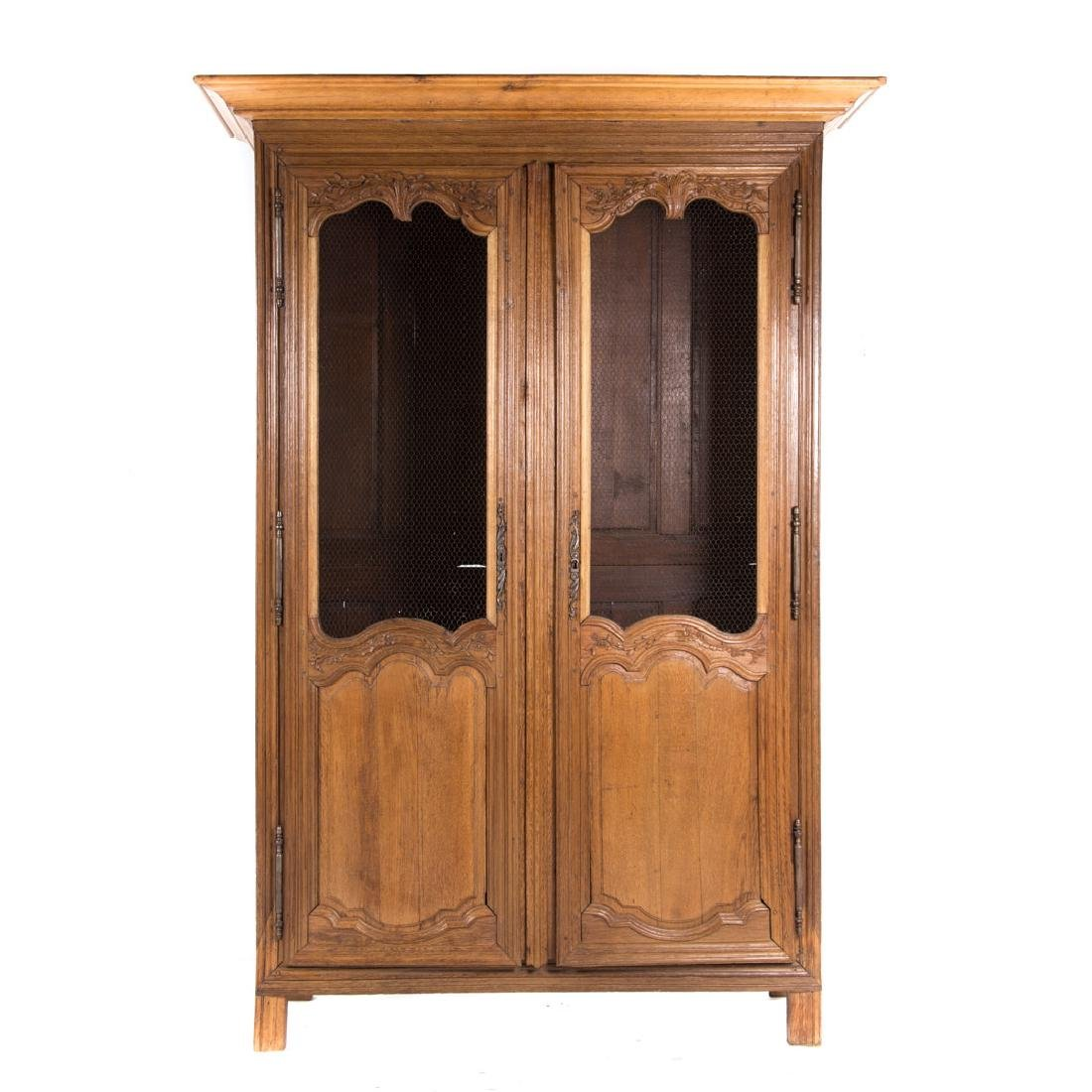 Louis XVI style oak bibliotheque