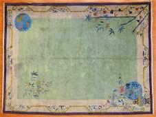 Antique Nichols Art Deco rug, approx. 8.8 x 11.6