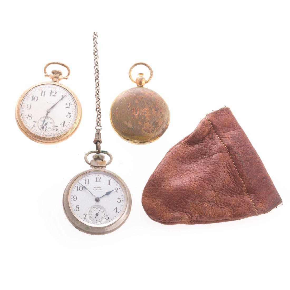 Two Pocket watches and a US Army Compass