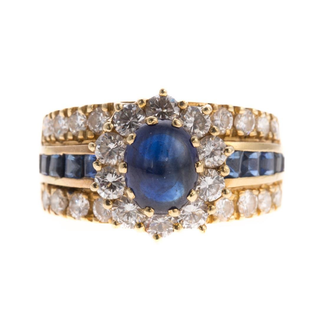 A Lady's Sapphire & Diamond Ring in 14K Gold